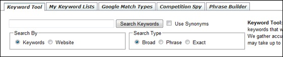 Wealthy Affiliate Keyword Research Tool