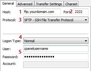 Filezilla SFTP Setup