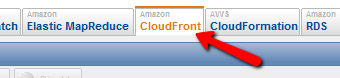 Amazon CloudFront Tab