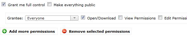 Setting the file permissions