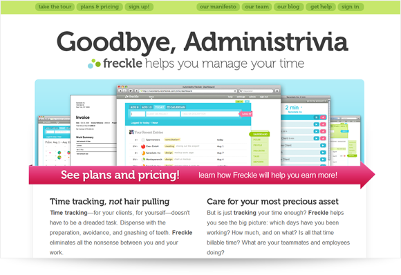 Freckle Homepage