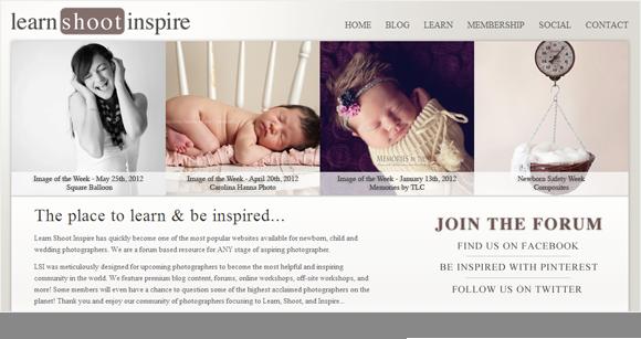 LearnShootInspire Homepage