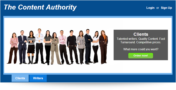 The Content Authority Homepage