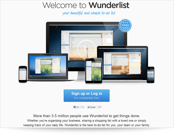 Wunderlist Screenshot