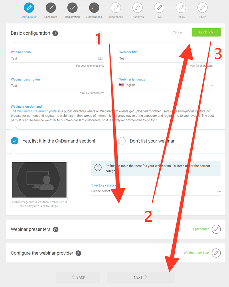 The down and up path you need to follow several times per page, to go through the options