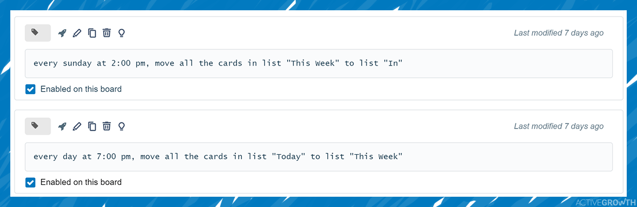 "Move cards from the ""today"" and ""this week"" lists automatically"